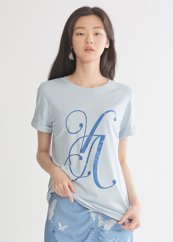 blue logo t-shirts