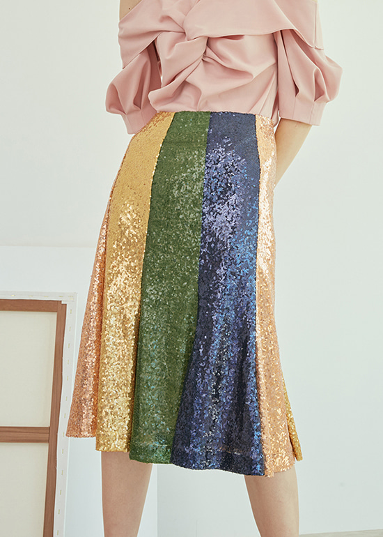 rainbow spangle skirt