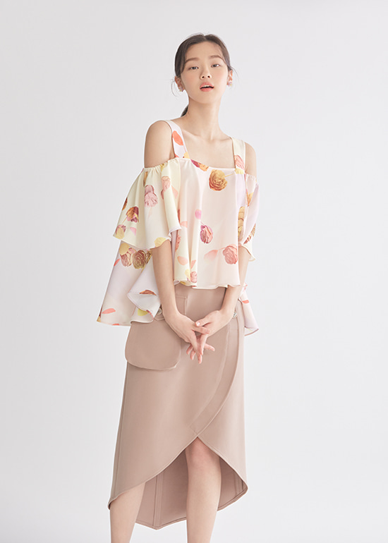 soft brown petal skirt