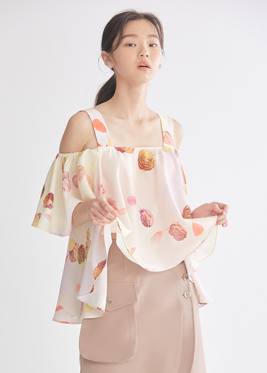 rose volume offshoulder blouse