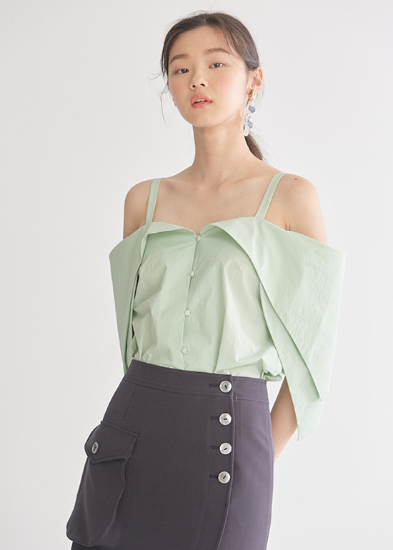 mint blossom blouse