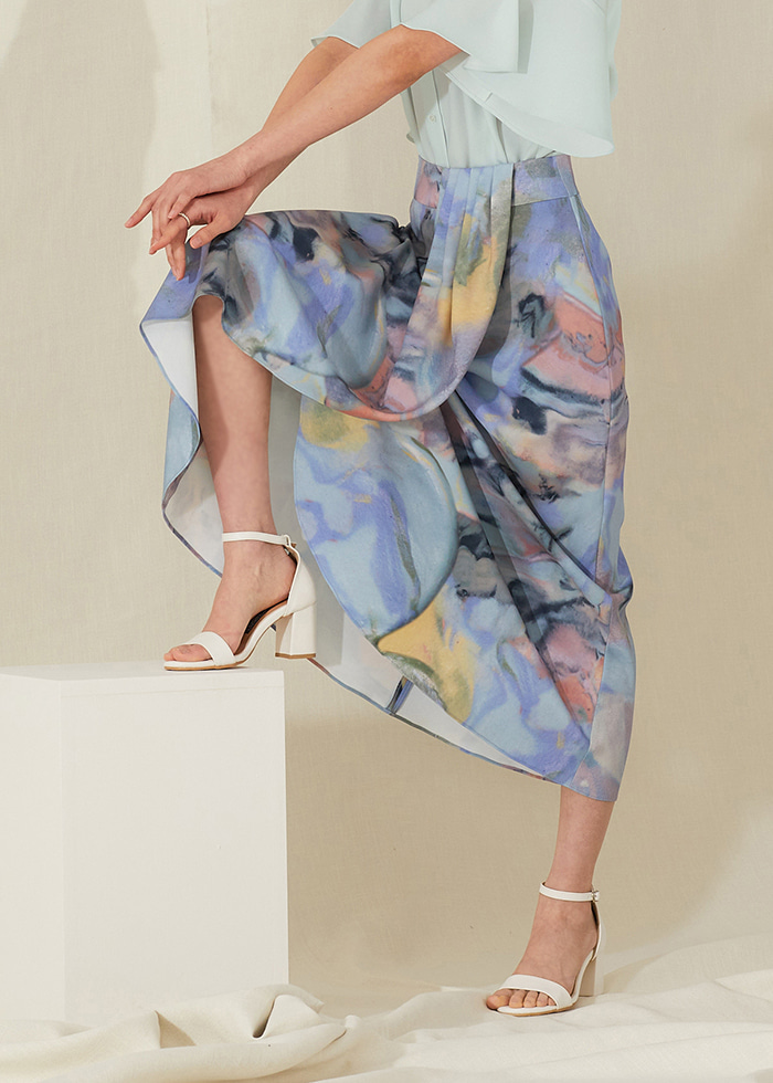 Diana skirt_marble
