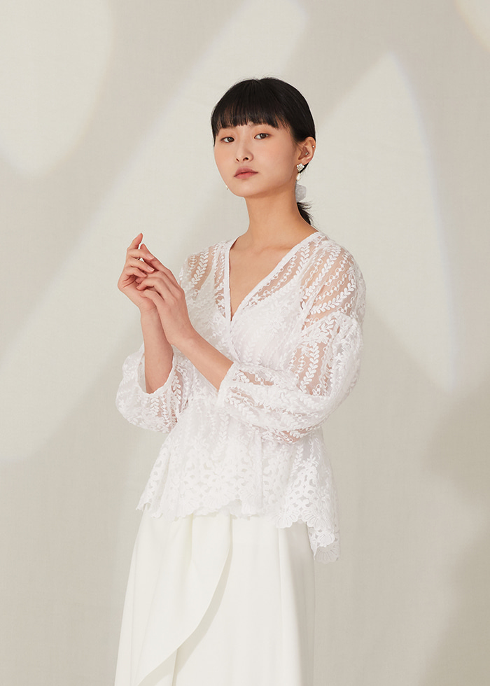 [주문제작] White lace cardigan (+sleeveless)
