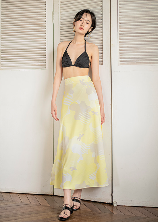 lemon plane wrap skirt
