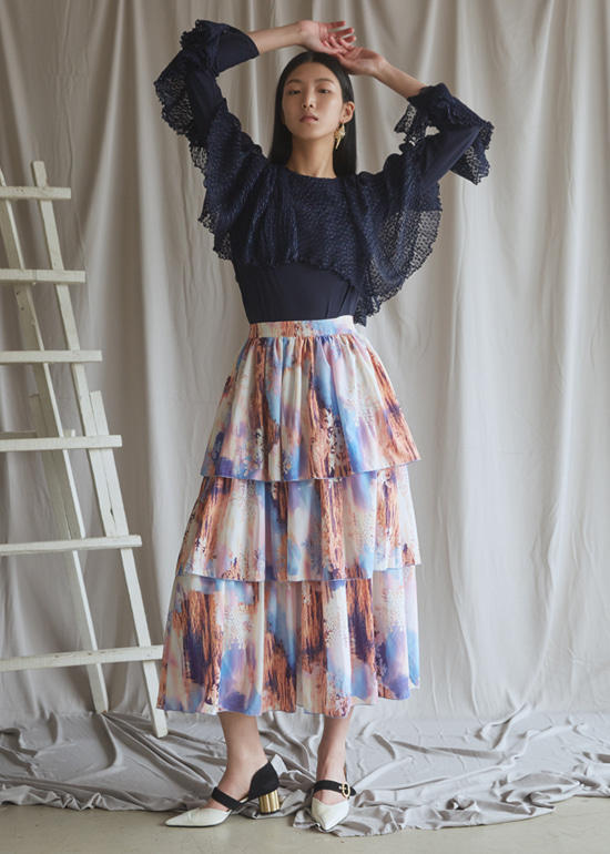 sunset cancan skirt