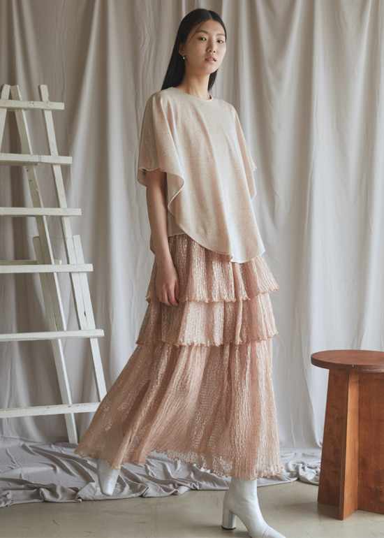 sandy layerd skirt