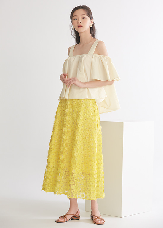 yellow sunflower skirt