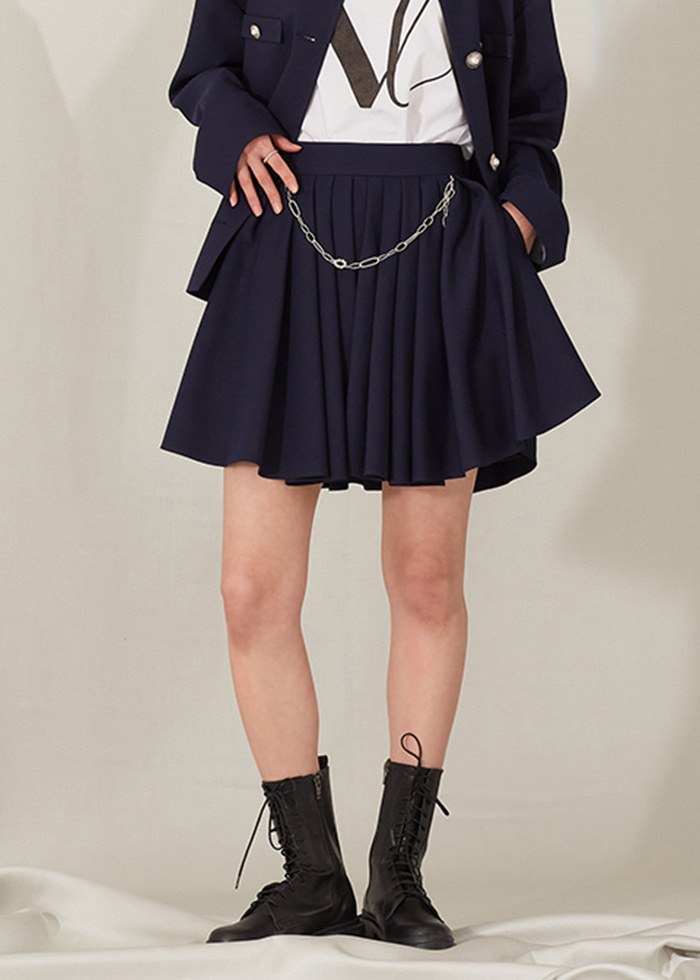 [3/15 예약배송] MATIAS chain skirt_navy